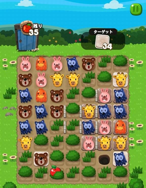 【ポコポコ】【ステージ59】地味な攻略は右下隅の茂みを放置プレイ